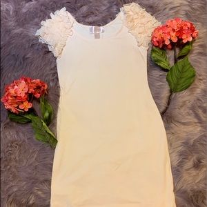 H&M Garden Collection pale pink bodycon dress